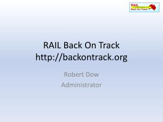 RAIL Back On Track backontrack
