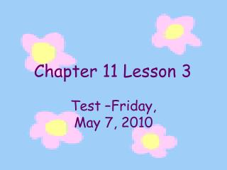 Chapter 11 Lesson 3