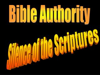 Silence of the Scriptures