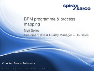 BPM programme & process mapping