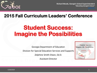 2015 Fall Curriculum Leaders' Conference Student Success: Imagine the Possibilities