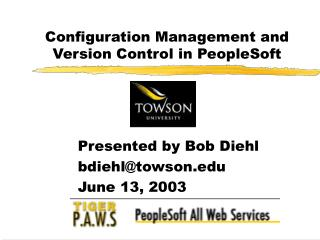 Configuration Management and Version Control in PeopleSoft