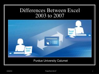 Differences Between Excel 2003 to 2007
