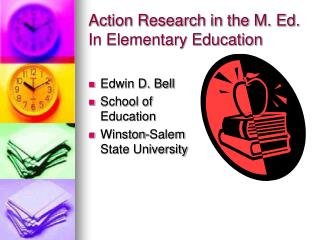 Action Research in the M. Ed. In Elementary Education
