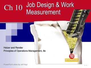 job design and work measurement Job design and work measurement in supply chain management to download this video as an animated powerpoint presentation, please log on to wwwjvmeducation.