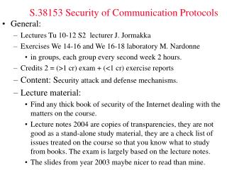 S.38153 Security of Communication Protocols