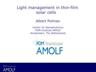 Light management in thin-film solar cells