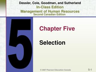 Chapter Five Selection