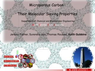 Microporous Carbon : Their Molecular Sieving Properties