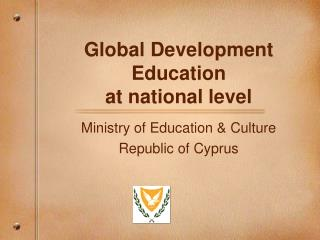 Global Development Education at national level