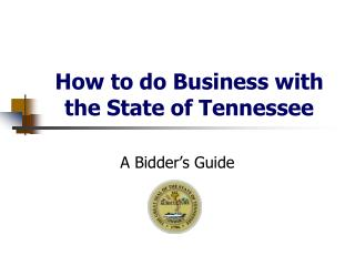 How to do Business with the State of Tennessee