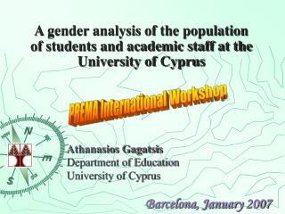 A gender analysis of the population of students and academic staff at the University of Cyprus