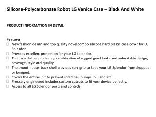 Silicone-Polycarbonate Robot LG Venice Case