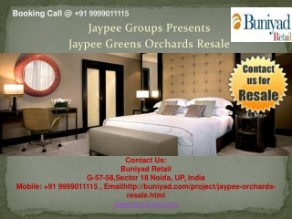 Jaypee Greens Orchards Resale | 9999011115 | For Booking