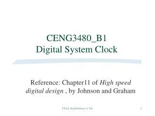 CENG3480_B1  Digital System Clock