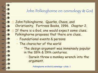 John Polkinghorne on cosmology & God