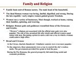 Family and Religion