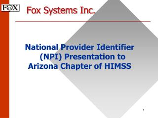 Fox Systems Inc.