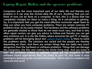 Laptop Repair Dallas