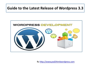 Added features in WordPress 3.3