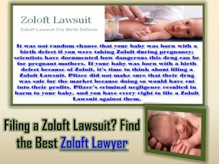 Zoloft Lawyer