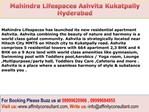 Ashvita Mahindra Lifespaces New Project