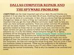Dallas Computer Repair