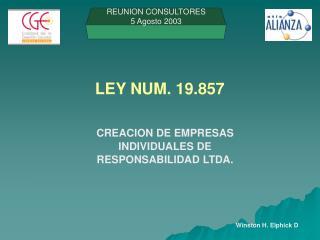 LEY NUM. 19.857