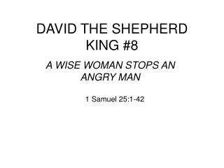 DAVID THE SHEPHERD KING #8