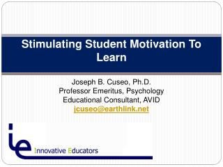 Stimulating Student Motivation To Learn