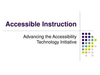 Accessible Instruction