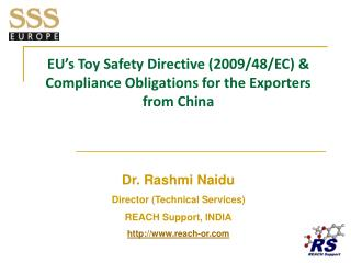 EU s Toy Safety Directive 2009
