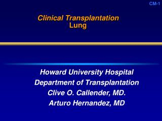 Clinical Transplantation Lung