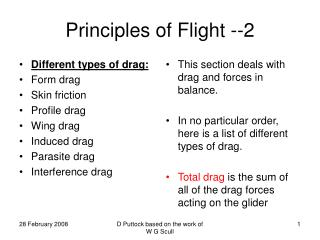 Principles of Flight --2