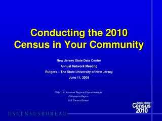 Conducting the 2010 Census in Your Community