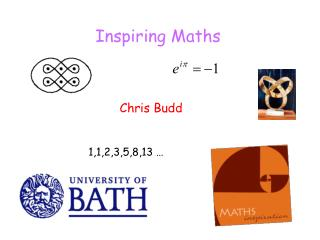Inspiring Maths Chris Budd