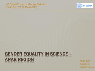 gender equality in Science –  Arab region