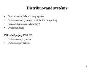 Distribuovan  syst my