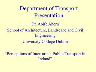Department of Transport Presentation