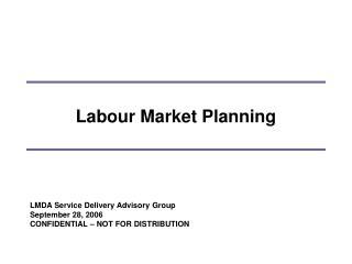 Labour Market Planning