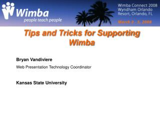 Tips and Tricks for Supporting Wimba