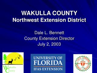 WAKULLA COUNTY Northwest Extension District