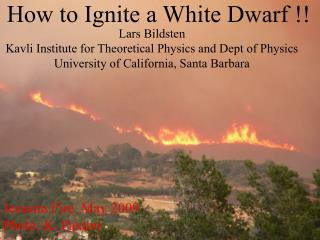 How to Ignite a White Dwarf !!