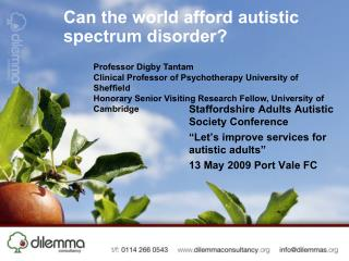 Can the world afford autistic spectrum disorder?