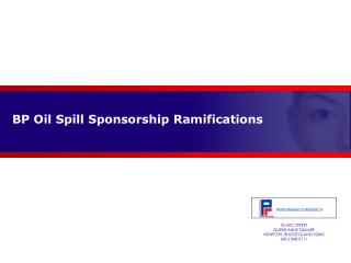 BP Oil Spill Sponsorship Ramifications