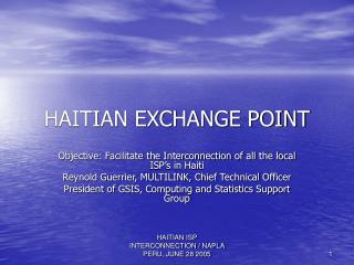 HAITIAN EXCHANGE POINT