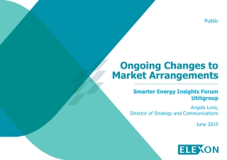 Ongoing Changes to Market Arrangements