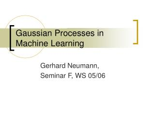 Gaussian Processes in Machine Learning