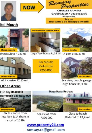 Close to beach Reduced to R1,4 mil