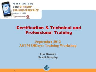 Certification & Technical and Professional Training